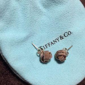 Tiffany & Co. silver knot earrings